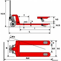 Тележка гидравлическая MAX VM 20/115 S с весами фото 2
