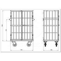 Шкаф каркасный металлический ШТМ фото 3