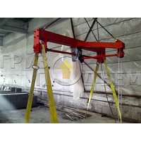 Кантователь промышленный подвесной с ручным приводом и редуктором фото 3