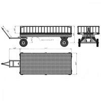 Тележка большегрузная с фанерным настилом и решетчатыми бортами БТ5-КБ фото 3