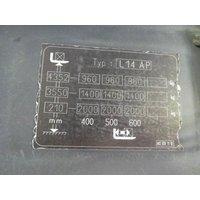 Сопровождаемый электроштабелер Linde L 14 ap i - Triplex, год 2013 - B5F1C824 фото 3