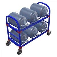 ТСВД. Стеллаж передвижной для 19-литровых бутылей с водой