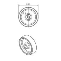 Колесо для тележки промышленное Ø 125х40 мм фото 3