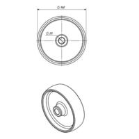 Колесо для тележки промышленное Ø 160х45 мм фото 3