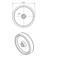 Колесо для тележки промышленное Ø 200х50 мм фото 3