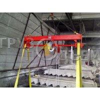 Кантователь промышленный подвесной с ручным приводом и редуктором фото 2