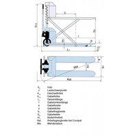 Тележка гидравлическая PFAFF HU ES 108 ножничная с электроподъемом фото 2