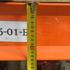 Паллетные металлические стеллажи бу рама 4,5 м (лот 0418/15-ПА) фото 6