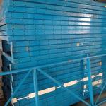Паллетные болтовые стеллажи бу высота 3,7 м (лот 0318-6 ПАБ)