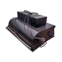 Щетка дорожная коммунальная с бункером и системой орошения для мини погрузчиков