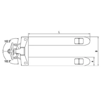 Тележка гидравлическая NOBLIFT ACL 20-180 фото 4