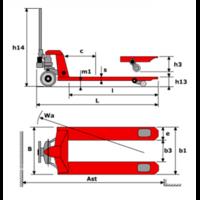 Тележка гидравлическая OXLIFT OX20-PU115(DB) фото 2
