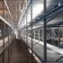 Среднегрузовые стеллажи бу с металлическим и ДСП настилом высота 3,5 м (лот 078/39-СГ)